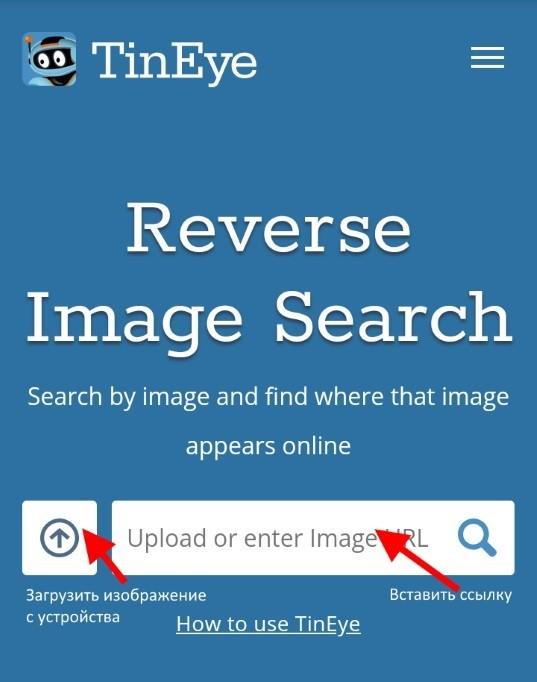 сервис поиска изображений TinEye